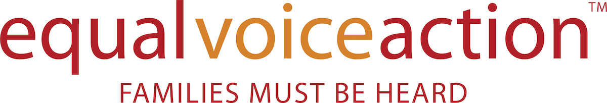 Equal Voice Logo: Families Must Be Heard